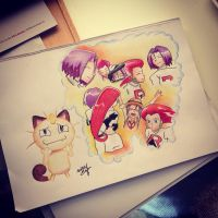Meowth knows the score by HermioneHouse