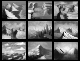 Thing a day: Landscape Thumbnails by porkchopsammie