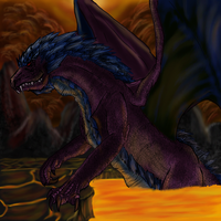 Dragon in Lava by lilcrazyg32