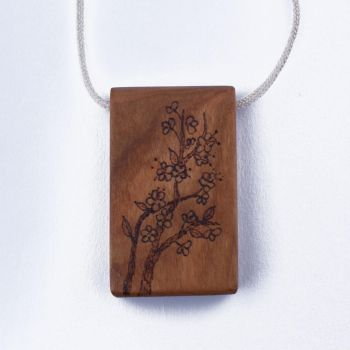 Cherry Blossoms Necklace by WoodsyAccents