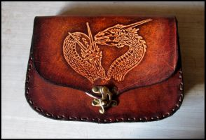 Dragon leather belt bag by akinra-workshop