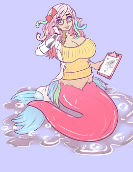 Marshmallow Mermaid by Caffeccino