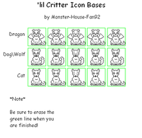 'lil Critter Icon Bases by Monster-House-Fan92