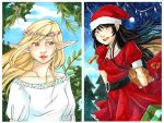 DeviantART Holiday Cards 2013 by LonelyFullMoon