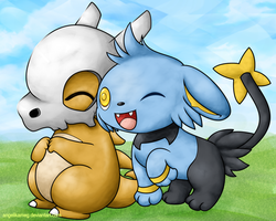 Cubone and Shinx by angelikameg