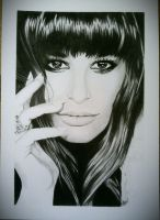 A better picture of my Lea Michele Drawing by DarcArtDK