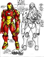 Iron Man: Armor Design Colored by Crzymonkey209
