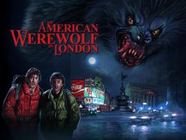 American Werewolf poster edit by Harnois75