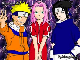 Narru-team 7 colored by DarkChocaholic