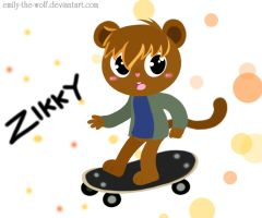 .:+.:AT:-Zikky:-:Skateboard.:+:. by emily-the-wolf