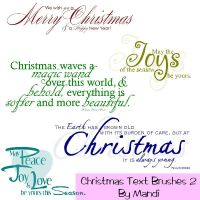 Christmas Word Brushes Pack 2 by MandiMoore87