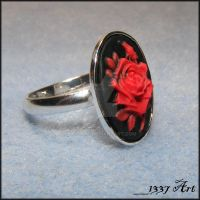 Romantic Flair Cameo Ring by 1337-Art