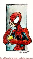 SpiderMan and yogurt by lervold