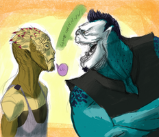 Ebranthaeh And Vernparan by Gingerscoffee