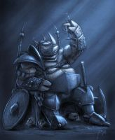 Armored Rhino - Sketch by JoseAlvesSilva