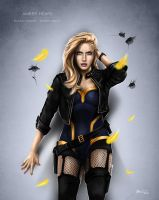 Amber Heard - Black Canary by Ben-Wilsonham