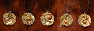 Steamfae Pendants by Kukuzilla