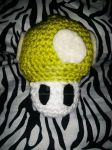 Green Toadstool from Mario weee!!! by Suiiening