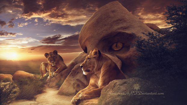 Temple of the Lions by GeneRazART