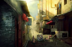 Old street by icevii