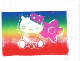 Cute Hello Kitty print by HeartKimmiKat