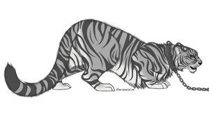 The Grayscale Tiger by Slithur