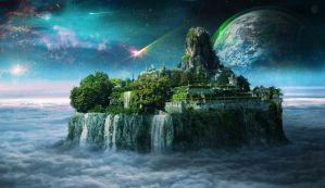 Empyrean Island by batkya