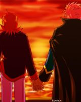 Day 1: holding hands by Aosuka