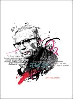Jean-Paul Sartre by Yellowcardas