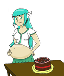 Birthday Belly by SongOfSwelling