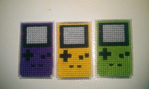 Game Boy Color Cross Stitch Magnets Giveaway by moonprincessluna