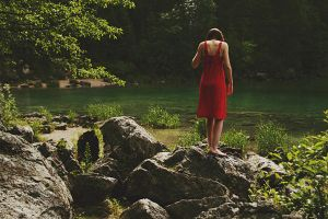 Lakeside - The Red Dress by namimosa