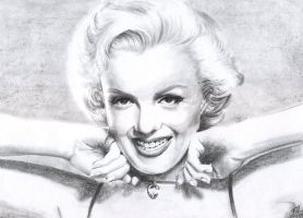 Marilyn Monroe by kourinthellama