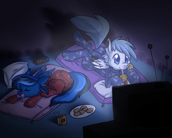 Movie Night by Eevie-chu