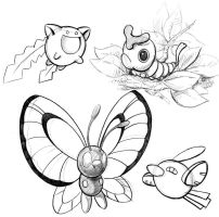 Pokemon sketches by WillPetrey