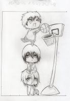 Chibi KNB Sketch ~ by shinarei