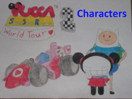 Pucca's SS Racing 2 World Tour Characters by rabbidlover01