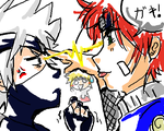NARUTO: Doodle - Rivalry by yomigaere