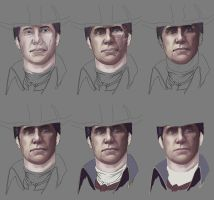 Haytham Kenway WIP by dmbgal07