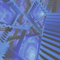 Blue stairs 2 by JoostHermans