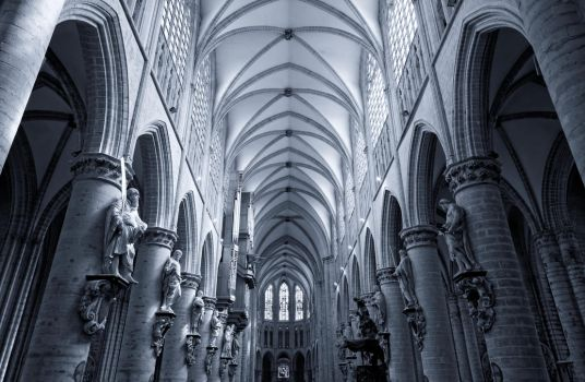 Brussels Cathedral by Oaken-shield