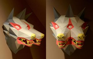 Mutant Dog Papercraft by Gedelgo