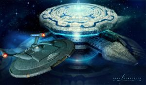 Deep Space station by cylonka