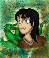 Arya and Firnen by graciegra