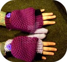 P. Fingerless Mittens, flaps by AAMurray