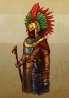 Aztec Priest by 7leipnir