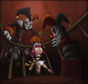 Shaco the Dark Babysitter by The-Padded-Room
