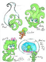Mossy and Airry Woy OCs by Kittychan2005