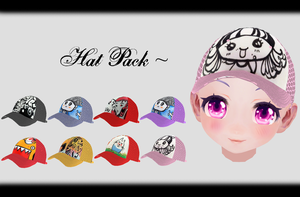 [MMD] Hat Pack DL ~ by o-DeadSilverVirus-o