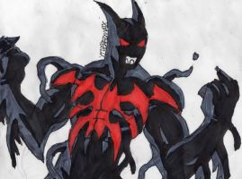 Symbiote Batman Beyond by ChahlesXavier